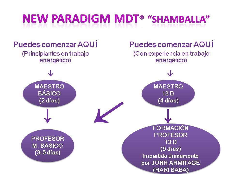 gráfico acceso a los cursos de New Paradimg MDT-Shamballa-