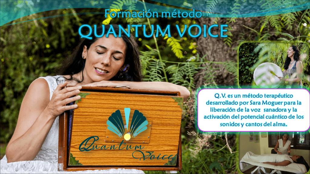 Cartel método Quantum Voice de Sara Moguer