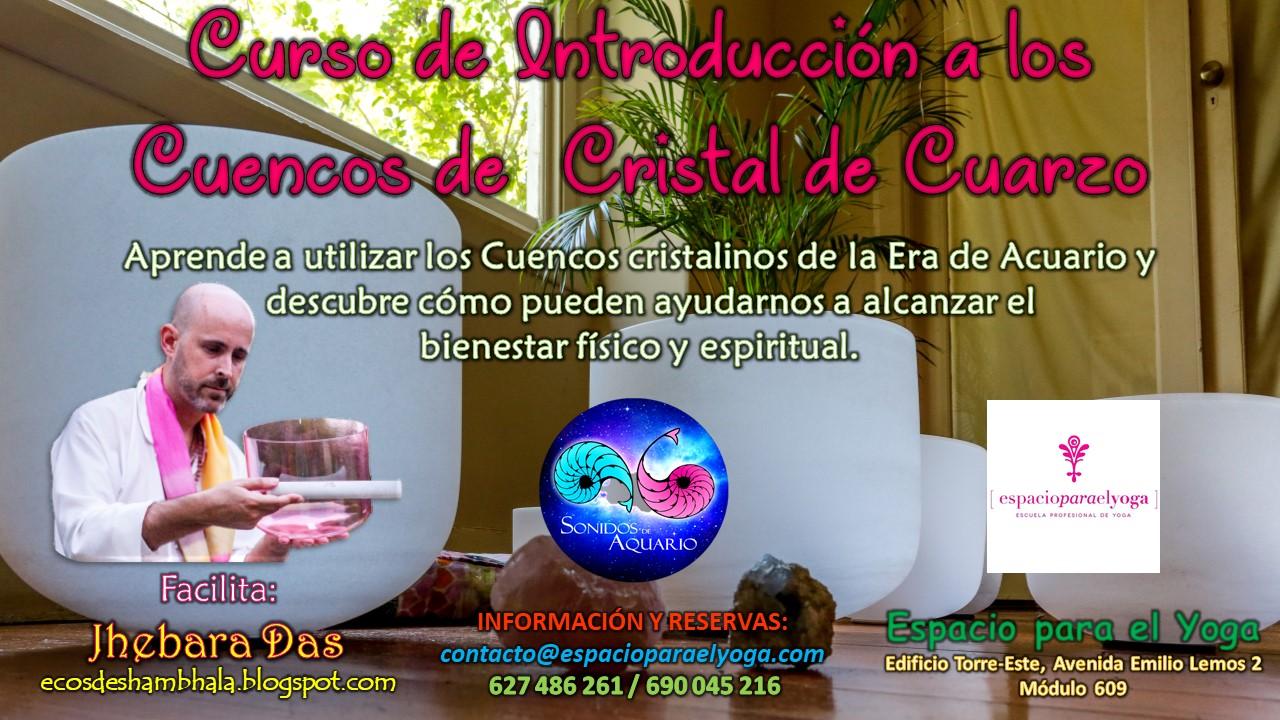 Cartel promocional del Curso de Introducción a los Cuencos de Cuarzo