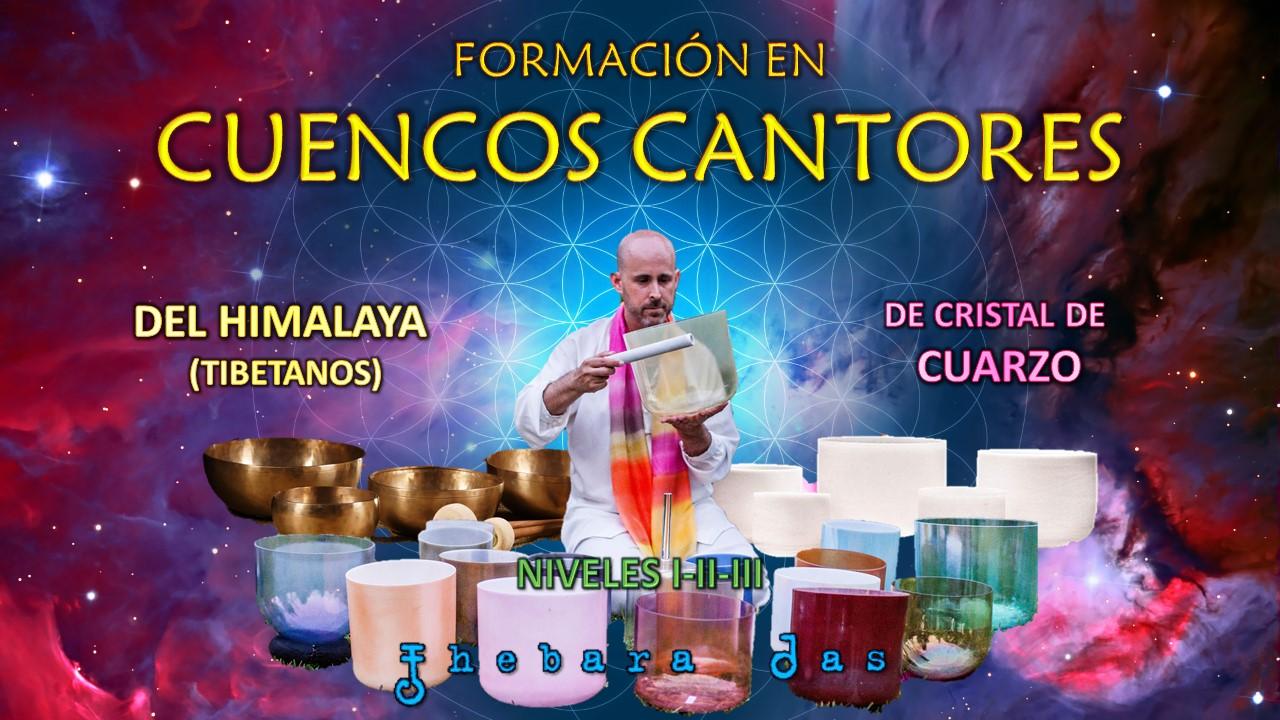 Imagen promocional de la Formación de Cuencos Cantores de Sonidos de Aquario