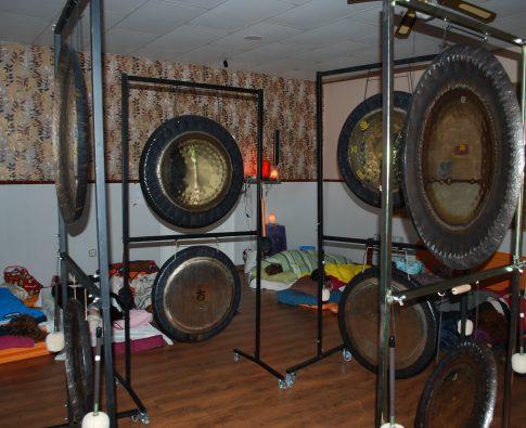 Gongs utilizados en la Puja